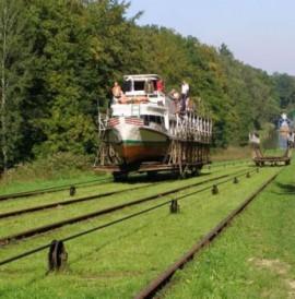 Pochylnie Kanału Elbląskiego – hydrotechniczny światowy unikatSlipways Elblag Canal - hydrotechnical world rarityRollberge des Oberländischen Kanals (Kanał Elbląski) – eine weltweite wasserbautechnische Besonderheit